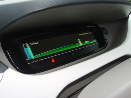 Full EV Vehicle or PHEV vehicle dashboard