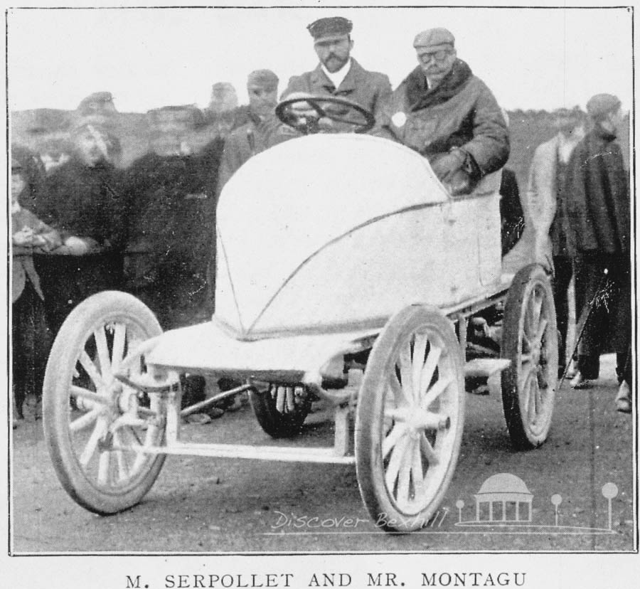 Serpollet and Montagu in Bexhill 1902